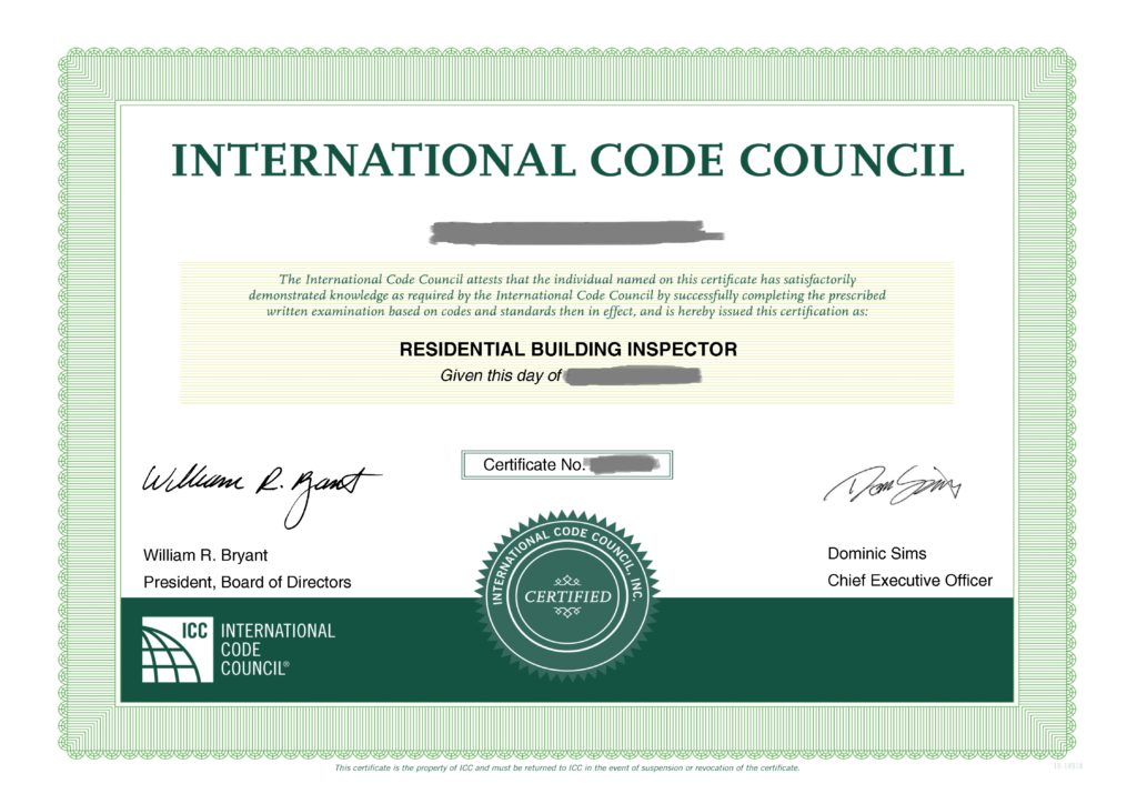 Residential Building Inspector Exam B1 Building Code Trainer